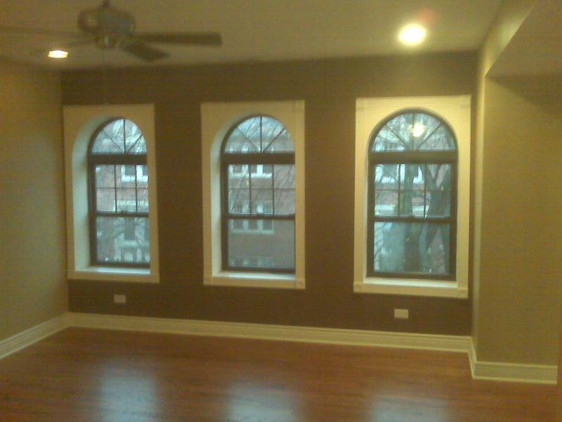 Dark Paint w/Bright White Window Trimmings